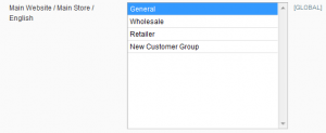 Multi-Select Field - Customer Groups