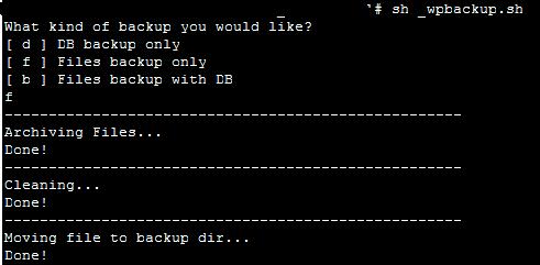 File Backup Only