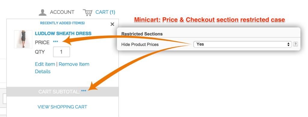 Price/Checkout Section - Restricted Case (Mini - Cart)