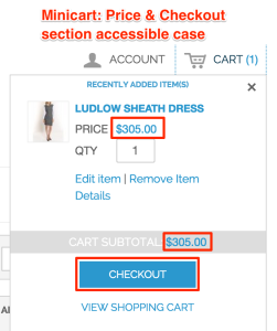 Price/Checkout Section - Accessible Case (Mini - Cart)
