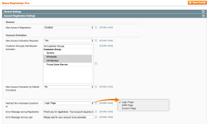 Customer Account Activation - General Settings