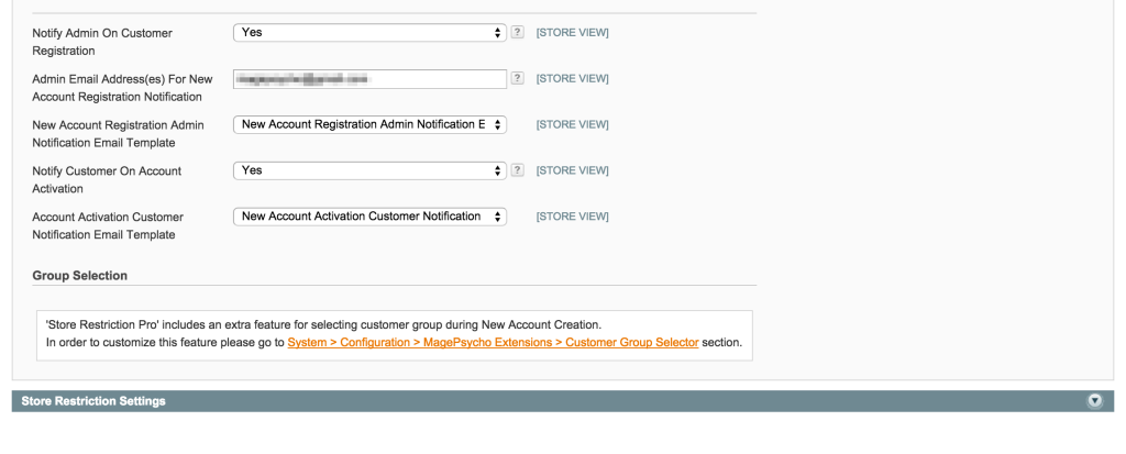 Customer Account Activation - Notification Settings