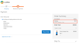 Magento2 - Custom Shipping - Checkout Summary