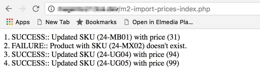Magento2 Bulk Price Update via Web